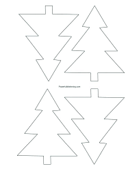 Template For A Star Christmas Tree Star Template Paper Art Templates Snowflake Patterns