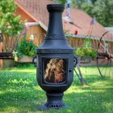 Venetian Grill Chiminea Cast Aluminum Wood Burning Outdoor Fireplace