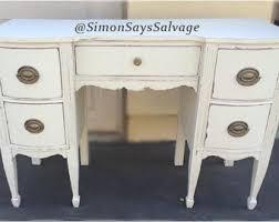White Shabby Chic Desk, Distressed-