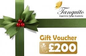 Gift voucher template 200 usd. 150 Gift Voucher Tanguito Argentine Tango Academy
