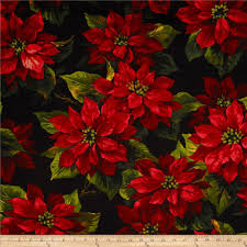 Floral Quilting Fabric - Floral Fabric by the Yard | Fabric.com & Michael Miller Scarlet Poinsetta Black Adamdwight.com