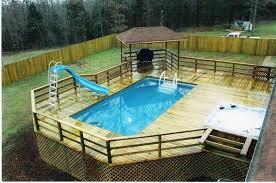 image of portable above ground pools with decks