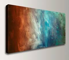 zoom on grey red wall art with abstract painting large wall art canvas print panoramic home