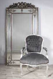 fascinating large antique silver wall mirror