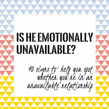 Emotionally Unavailable Men Pattern Amazing Emotionally Unavailable Men Pattern