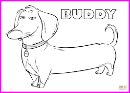 Stunning Dachshund Dog Coloring Page Printable Kids Of Wiener Trends