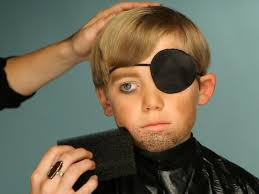 adding hair to pirate halloween makeup