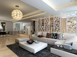 Partition For Living Room Put Modern Partition To Separate Living Room Design With Another