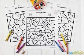 Print and color the best free easter color pictures for kids. Free Easter Color By Number Worksheets