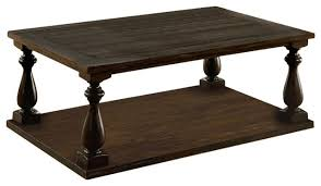 wooden coffee table with open bottom