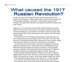 what caused the russian revolution gcse history marked  document image preview