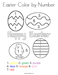 Easter Color by Number Coloring Page - Twisty Noodle