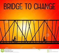challenging situation stock photo image  bridge to change royalty stock image