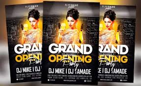 Free Grand Opening Flyer Template Free Flyer Grand Opening Party Flyer Template Vol 1