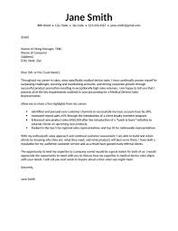 Cover Letter Introduction Medical Sales Opening Dear Business