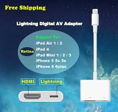 original genuine lightning to av hdmi hdtv tv digital adapter for apple md826zm a cable for ipad iphone 5 5s 6 in audio cables from computer