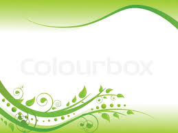 Illustration Of Floral Border In Green Stock Vector Colourbox