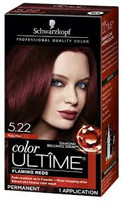 Schwarzkopf Hair Dye Colour Chart Schwarzkopf Color Ultime Hair Color Cream 5 22 Ruby Red Packaging May Vary