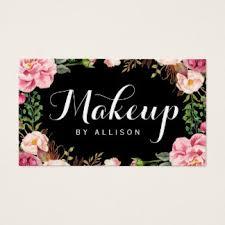 makeup artist modern script y fl wrapping business card