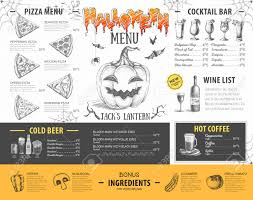 Halloween Menu Design Vintage Halloween Menu Design Restaurant Menu