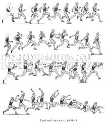 Техника тройного прыжка с разбега ФизкультУРА Тройной прыжок в длину