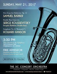 dc concert orchestra  21 2017 samuel barber first essay for orchestra