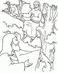 The vast and beautiful ocean has come to zacchaeus. Zacchaeus Coloring Page Sunday School Coloring Pages Preschool Bible Bible Coloring Pages