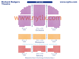 Hamilton Broadway Theater Seating Chart Richard Rodgers Theater Seating Chart Thelifeisdream