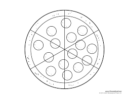 Small Picture 10 Best Images of Printable Pizza Template Portion printable