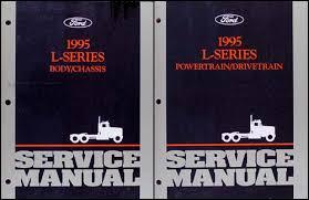 ford l series foldout wiring diagram l l lt 1995 ford l series 7000 9000 repair shop manual original 2 volume set 199 00