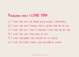 Love Him Quotes Beauteous Love Quotes Pics Reasons why I LOVE YOU 48 I love the way we