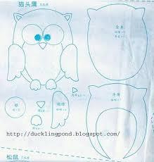 ducklingpond felt owl pattern