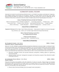 Sample Resume Format For Teachers Resume Format For Teacher Free For