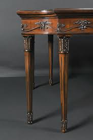 luois xvi style dining table legs make this an elegant choice to coordinate with clical furniture
