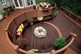 Interesting Deck Ideas With Fire Pit Wood T For