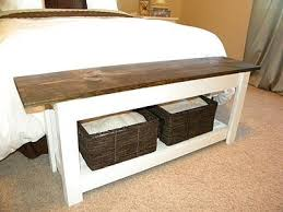 Best 25 End Of Bed Bench Ideas On Pinterest Narrow With Storage Decor For  Foot