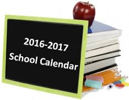 Image result for 2016 2017 school calendar