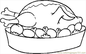 Small Picture Turkey Cooked 08 Coloring Page Free Thanksgiving Day Coloring