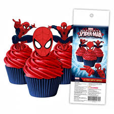 Edible Wafer Cupcake Toppers Marvel Spiderman Cakers Paradise