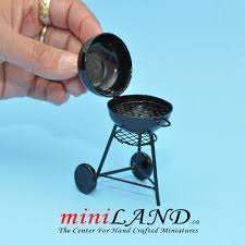 dollhouse outdoor furniture. Black Metal Charcoal BBQ Grill Miniature Dollhouse GARDEN Furniture 1:12 Scale Outdoor R
