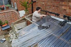 we then went and bought exactly the same corrugated roofing panels that were on kind of stupid as we could see that they re neither pretty nor durable