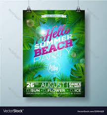 Green Party Flyer Summer Beach Party Flyer Design