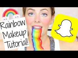 easy snapchat rainbow makeup tutorial