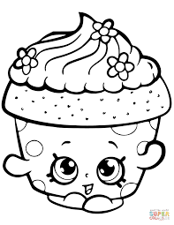Coloring Pages Free Printable Shopkins Colorings Cupcake Petal