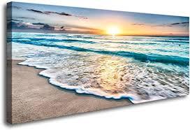 Baisuart S02250 Canvas <b>Prints</b> Wall Art <b>Beach</b> Sunset <b>Ocean</b> ...