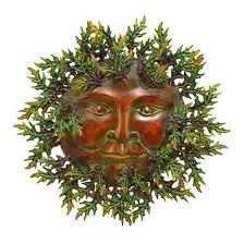 metal sun face leaves green man on garden metal sun wall art with metal sun face leaves green man garden yard art from variations