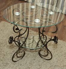 furniture handmade livemaster handmade wrought iron coffee table double glass