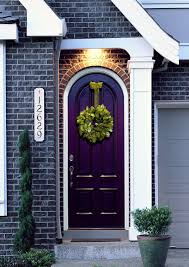 exterior paint colors with red brick30 Front Door Colors with tips for choosing the right one