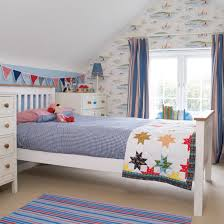 ... Adorable Curtain Design For Kid Bedroom Decoration : Creative Boy  Bedroom Decoration With White Wood Bed ...