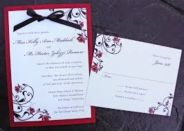 red rose & black swirl vine with ribbon bow wedding invitations Ribbon On Wedding Invitation red rose & black swirl vine with ribbon bow wedding invitations tying a ribbon on a wedding invitation